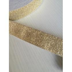 """Metalizuota elastinė juosta - guma """"Auksas"""""""