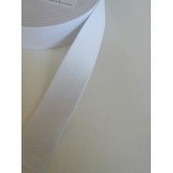 Elastinė juosta - guma 40mm balta