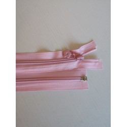 """Atsegamas užtrauktukas """"Šviesiai rožinis"""" 40 cm"""
