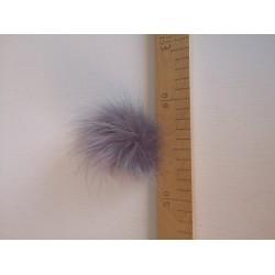 """Dirbtinio kailio bumbulas """"Pilkas su violetiniu atspalviu"""""""