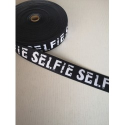 "Dekoratyvinė elastinė juosta - guma ""Selfie"""